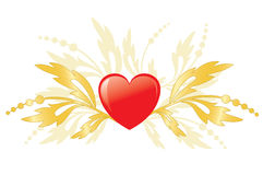 Red Heart As Element For Design - Vector Royalty Free Stock Photos