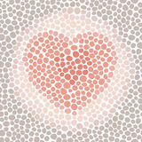 Red heart background. Mottled background with a red heart Stock Photography