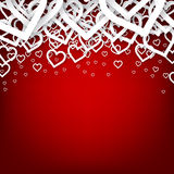 Red heart background. Royalty Free Stock Photography