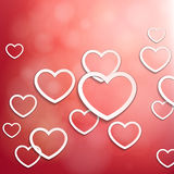 Red heart background. Stock Images