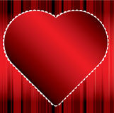 Red Heart Background. Red Heart with white accented border and red striped background. An .eps is also available Stock Photography