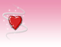 Red Heart Background Stock Image