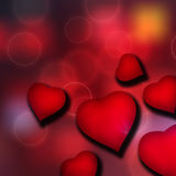 Red Heart Background Royalty Free Stock Images