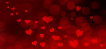 Red heart background Stock Photography
