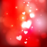 Red heart background Stock Images
