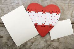 Red heart on a background of the old board (the theme for Valent Stock Images