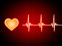 Red Heart Background Shows Pumping Blood And Alive Stock Photography