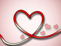 Red heart background with small hearts Royalty Free Stock Photography