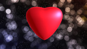 Red heart. On background for valentine Royalty Free Stock Photography
