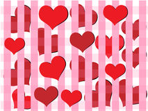 Red heart  vector background Royalty Free Stock Images