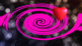 Red heart. On background for valentine day Vector Illustration