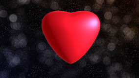 Red heart. On background for valentine day Stock Illustration