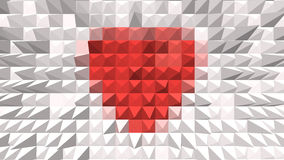 Red heart on background. For valentine day Vector Illustration