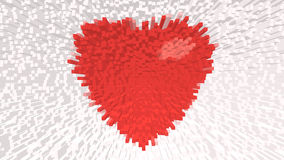 Red heart on background. For valentine day Royalty Free Illustration