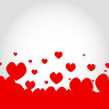 Red heart background valentine day Stock Photo