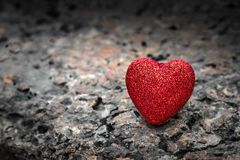 Red heart background. Valentine day wallpaper stock photography