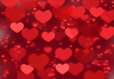 Red heart background; Valentine`s day background royalty free stock image