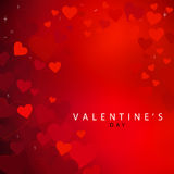 Red heart background for Valentine's day. Beautiful Valentine's day red heart background Stock Photo
