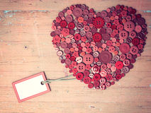Red heart background on vintage old surface. Royalty Free Stock Photography