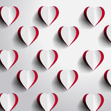 Red Heart Background Stock Photo