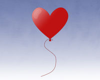 Red Heart Balloon Stock Photos