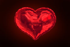 Red heart balloon against red background Royalty Free Stock Image