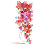 Red heart balloon background Royalty Free Stock Photos