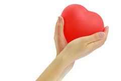 Red heart balloon Stock Photography