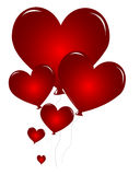 Red Heart balloons Royalty Free Stock Photography