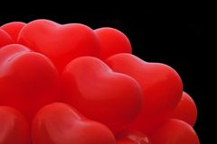 Red heart balloons Royalty Free Stock Photo