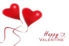 Red heart balloons vector illustration