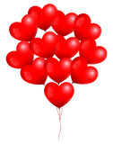 Red Heart Balloons Bunch Stock Images