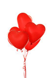 Red heart balloons isolated on a white Royalty Free Stock Photo