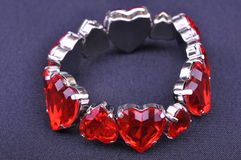 Red heart bangle Royalty Free Stock Photo