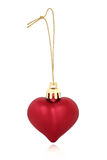 Red Heart Bauble Royalty Free Stock Photography