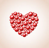 Red heart of bead Stock Photo