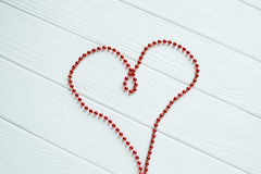 The red heart of beads Stock Images