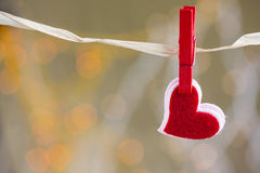 Red heart with beutiful background Royalty Free Stock Images
