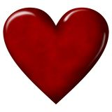 Red heart. A big red heart on neutral white background Royalty Free Stock Photography