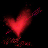 Red heart on black Royalty Free Stock Image