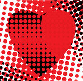 Red heart is black Stock Images