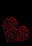 Red heart on a black background Stock Photo