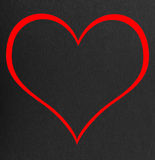 Red heart on a black Royalty Free Stock Images