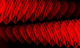 Red heart black background vector illustration