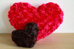 Red heart and black heart Royalty Free Stock Images