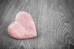 Red heart on black and white background. Stock Photography