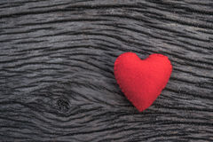 Red heart on black wooden background. Heart, red heart on black wooden background Stock Photos