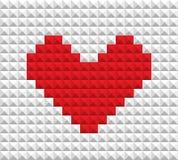 Red heart of blocks Stock Photos