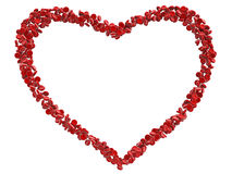 Red heart blood cells Stock Images