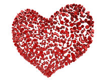 Red heart blood cells stock illustration